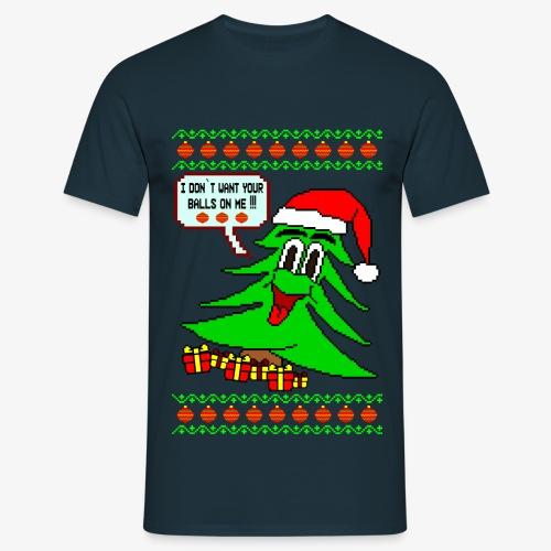 Männer T-Shirt Balls Ugly Christmas - Männer T-Shirt