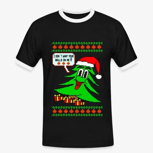 Männer Kontrast T-Shirt Balls Ugly Christmas - Männer Kontrast-T-Shirt