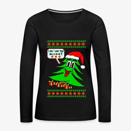 Frauen Premium Langarmshirt Balls Ugly Christmas - Frauen Premium Langarmshirt