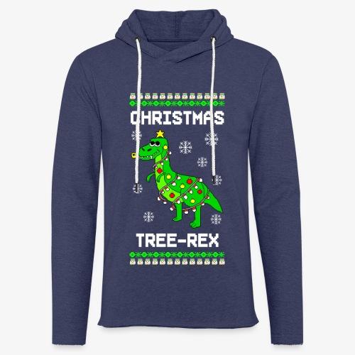 Leichtes Kapuzensweatshirt Unisex Dino Ugly Christmas Weihnachten - Leichtes Kapuzensweatshirt Unisex