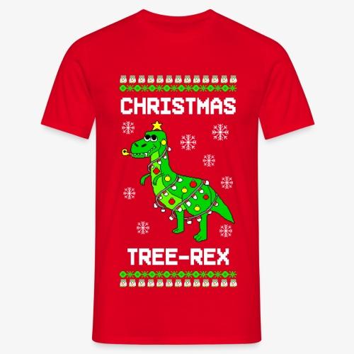 Männer T-Shirt Dino Ugly Christmas Weihnachten - Männer T-Shirt