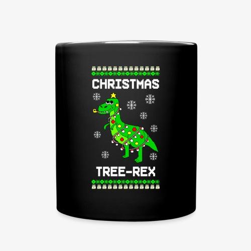 Tasse Dino Ugly Christmas Weihnachten - Tasse einfarbig