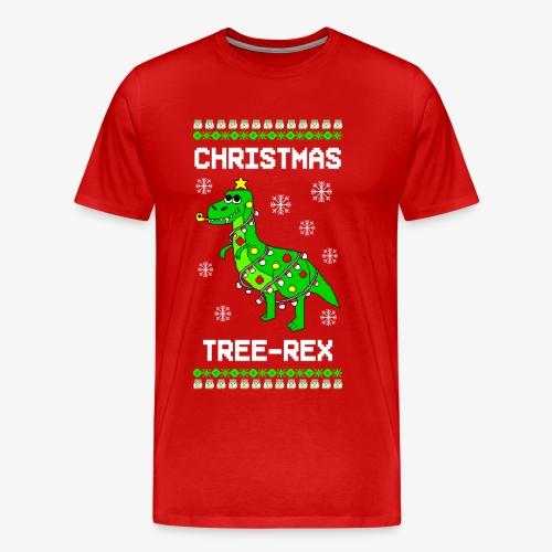 Männer Premium T-Shirt Dino Ugly Christmas Weihnachten - Männer Premium T-Shirt
