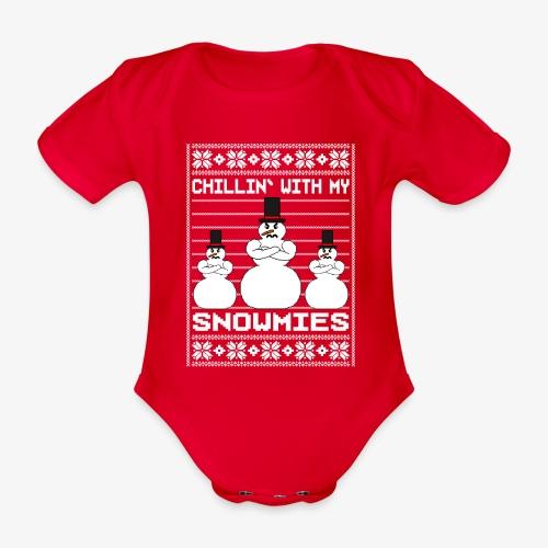 Baby Bio-Kurzarm-Body Snowmies Ugly Christmas - Baby Bio-Kurzarm-Body