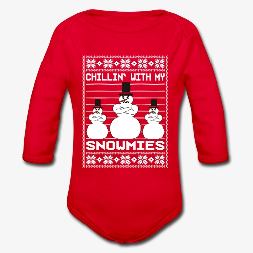 Baby Bio-Langarm-Body Snowmies Ugly Christmas - Baby Bio-Langarm-Body
