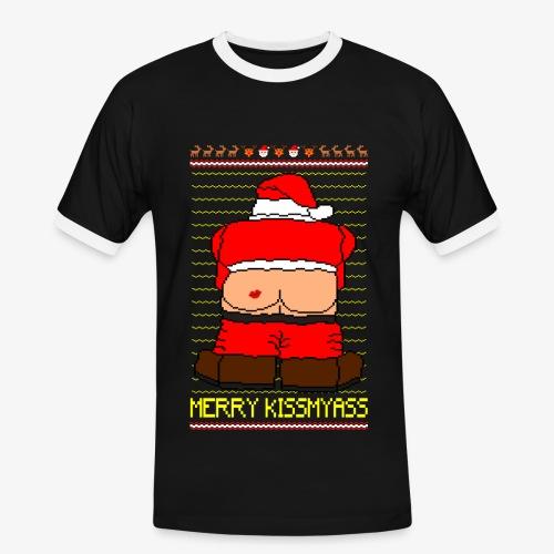Männer Kontrast T-Shirt Merry Kissmyass Ugly Xmas - Männer Kontrast-T-Shirt