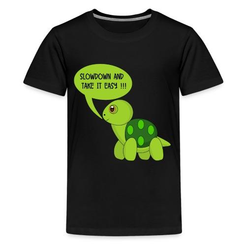 SlowDown Motiv - Teenager Shirt (Männlich) - Teenage Premium T-Shirt