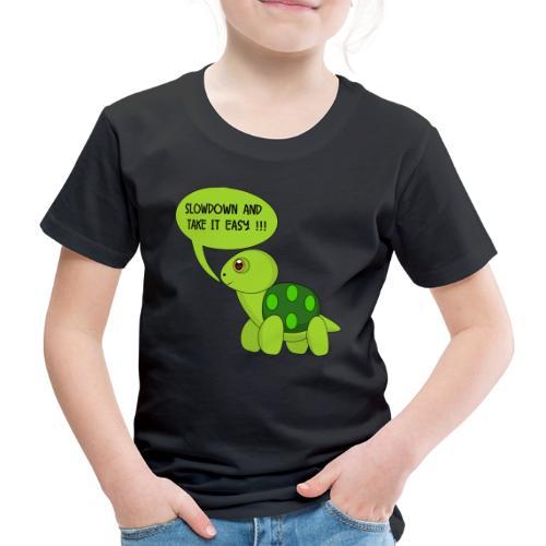 SlowDown Motiv - Kinder Shirt (Männlich) - Kids' Premium T-Shirt