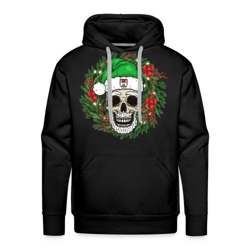 Weihnachtsschädel - Männer Premium Hoodie