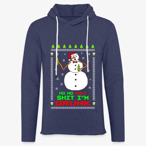 Leichtes Kapuzensweatshirt Unisex Ho Ho I´m Drunk Ugly Christmas - Leichtes Kapuzensweatshirt Unisex