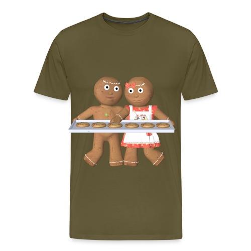 Lebkuchen Paar - Männer Premium T-Shirt