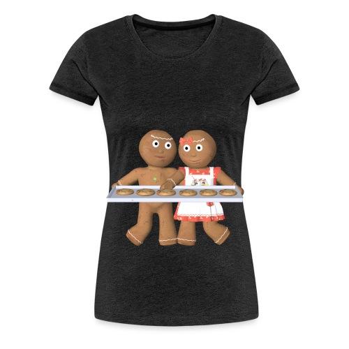 Lebkuchen Paar - Frauen Premium T-Shirt