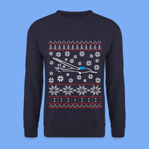 glider pilot ugly christmas Std. Libelle Glasflügel - Men's Sweatshirt