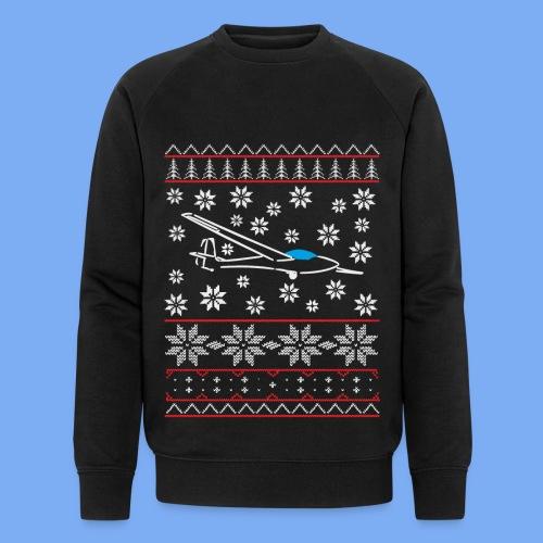 glider pilot ugly christmas Std. Libelle Glasflügel - Men's Organic Sweatshirt by Stanley & Stella