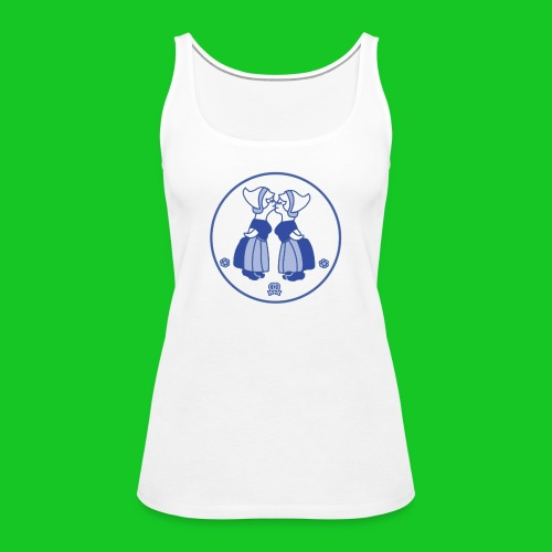 Delfts blauw kussende vrouwen dames tank top - Vrouwen Premium tank top