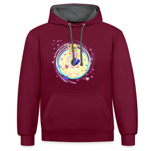 Mindy on a Hoodie. - Contrast Colour Hoodie