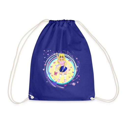 Mindy on a Gymnastics Bag. - Drawstring Bag