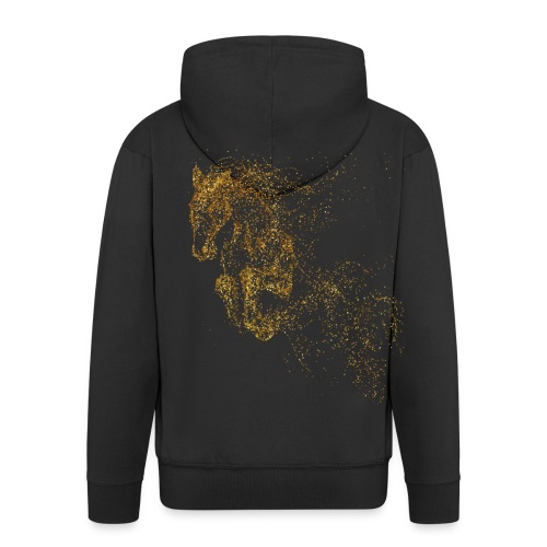 Men's Premium Hooded Jacket - jumping gold - Männer Premium Kapuzenjacke