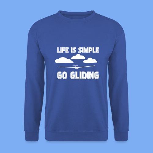 Gliding Passion Leidenschaft Segelflieger Geschenk Segelflugzeug  - Men's Sweatshirt