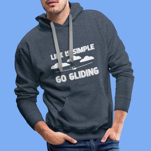 Gliding Passion Leidenschaft Segelflieger Geschenk Segelflugzeug  - Men's Premium Hoodie