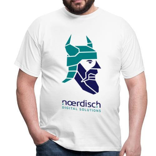Männer T-Shirt Noerdisch Viking Abstract FRONT Light - Männer T-Shirt