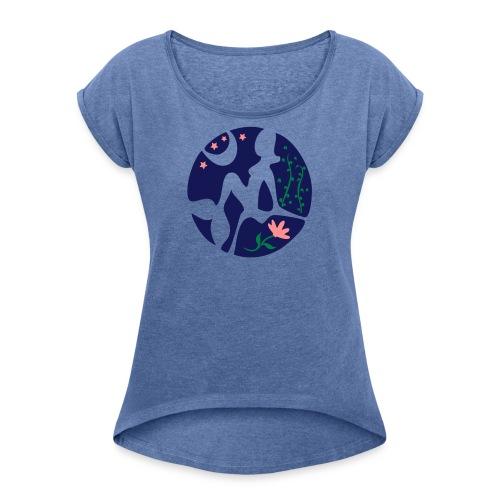 Sternbild Jungfrau - Frauen T-Shirt mit gerollten Ärmeln