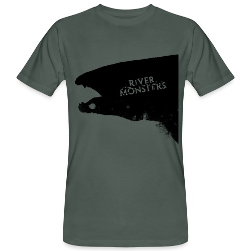 Wolf Fish Silhouette - Men's Organic T-Shirt - Men's Organic T-Shirt