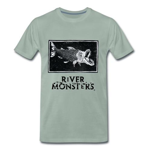 Goliath Tigerfish Woodcut - Men's Premium T-Shirt - Men's Premium T-Shirt