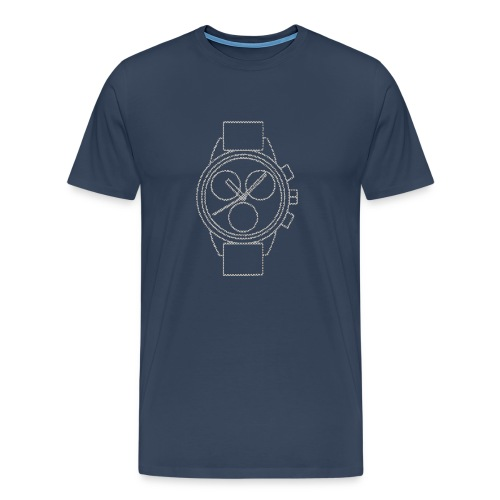 Chronograph Watch - Men's Premium T-Shirt