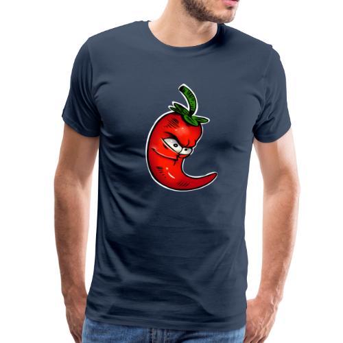Hot Chili Grimasse - Männer Premium T-Shirt