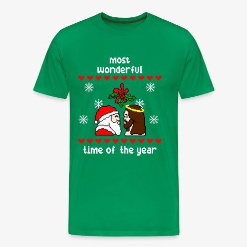Männer Premium T-Shirt most wonderful time in the year ugly Xmas - Männer Premium T-Shirt