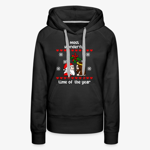Frauen Premium Hoodie most wonderful time in the year ugly Xmas - Frauen Premium Hoodie