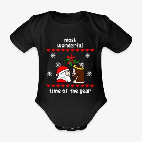 Baby Bio-Kurzarm-Body most wonderful time in the year ugly Xmas - Baby Bio-Kurzarm-Body