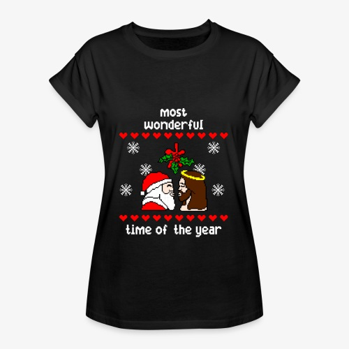 Frauen Oversize T-Shirt most wonderful time in the year ugly Xmas - Frauen Oversize T-Shirt