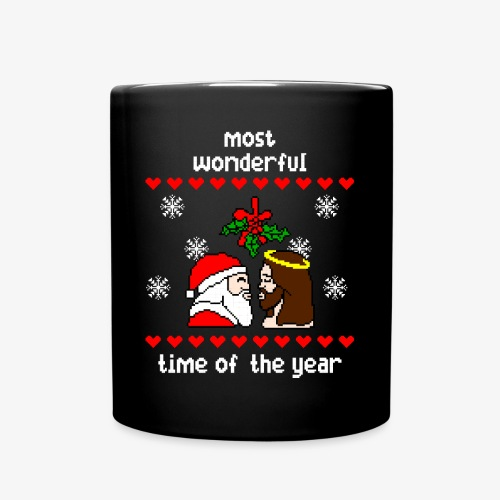 Tasse most wonderful time in the year ugly Xmas - Tasse einfarbig