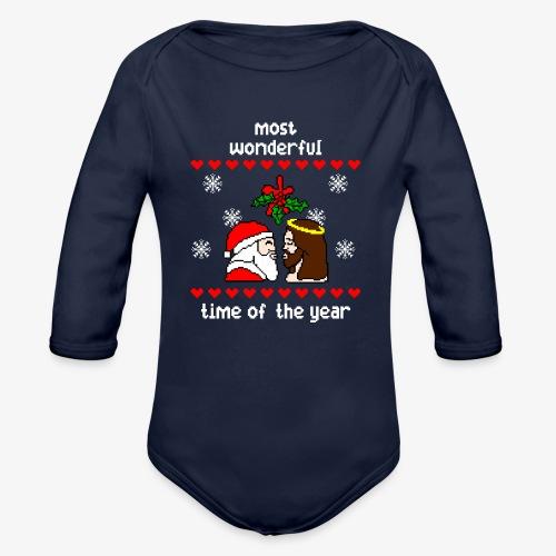 Baby Bio-Langarm-Body most wonderful time in the year ugly Xmas - Baby Bio-Langarm-Body