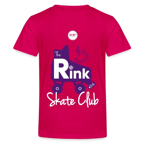 Teenage The Rink @D12 Skate Club (Pink) - Teenage Premium T-Shirt