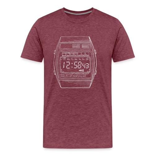 LCD digital watch - Men's Premium T-Shirt