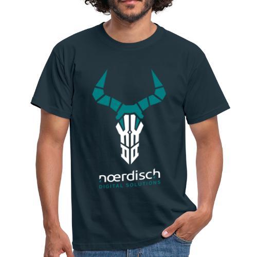 Männer T-Shirt Noerdisch Skull Abstract FRONT dark - Männer T-Shirt