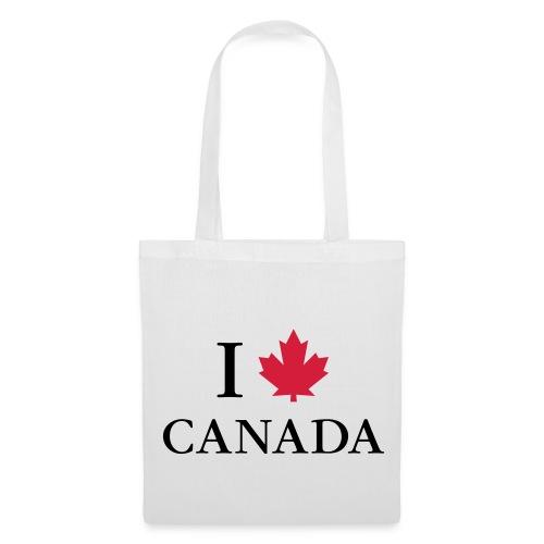I love Canada Ahornblatt Kanada Vancouver Ottawa - Stoffbeutel