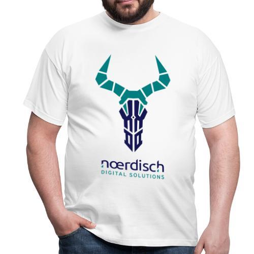 Männer T-Shirt Noerdisch Skull Abstract FRONT light - Männer T-Shirt