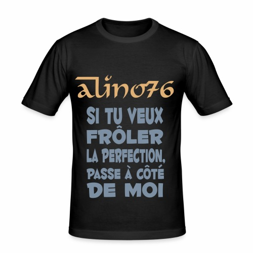 Tee shirt (maillot) citation #1 Alino76 - T-shirt près du corps Homme