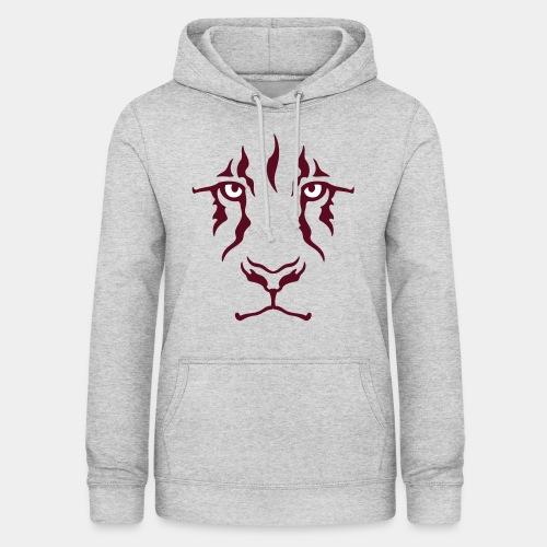 Le regard du lion - Sweat à capuche Femme
