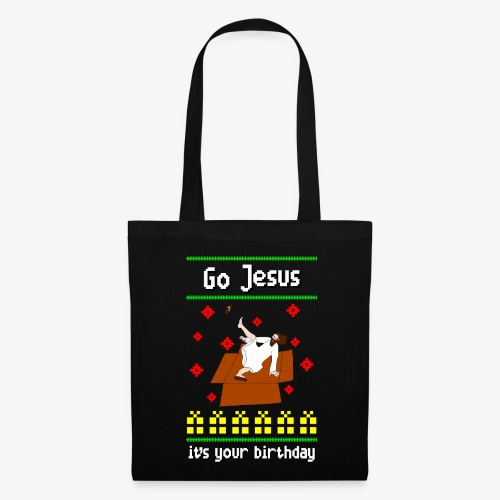 Stoffbeutel go jesus breakdance ugly christmas - Stoffbeutel