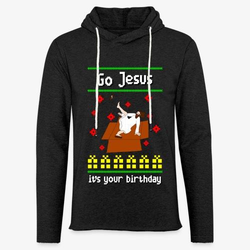 Leichtes Kapuzensweatshirt Unisex go jesus breakdance ugly christmas - Leichtes Kapuzensweatshirt Unisex