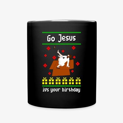Tasse go jesus breakdance ugly christmas - Tasse einfarbig
