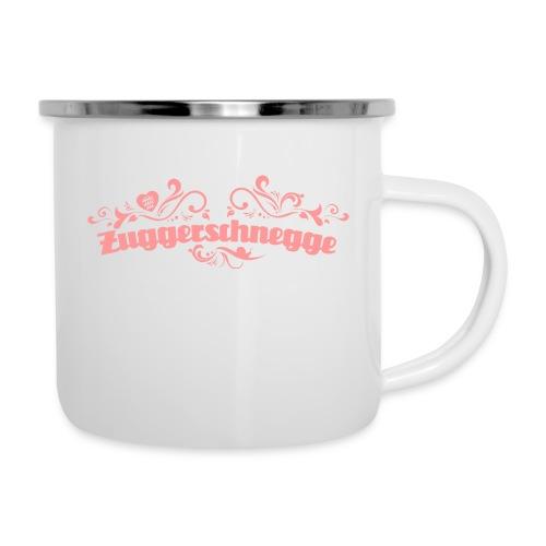 Zuggerschnegge - Emailletässle - Emaille-Tasse