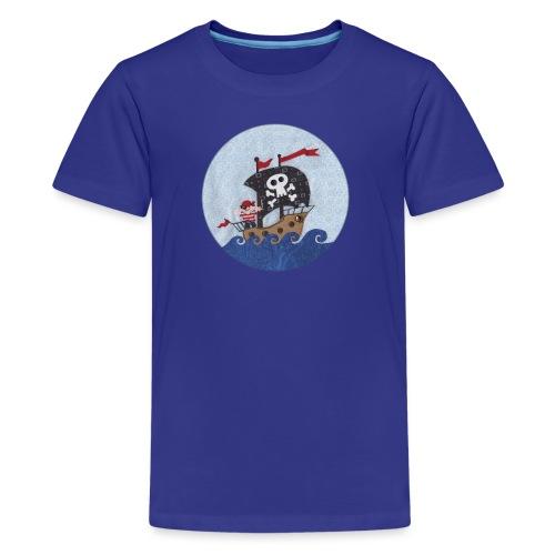 Teenager T-Shirt mit Piratenschiff - Teenager Premium T-Shirt