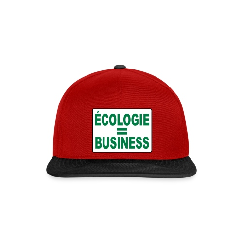 Ecologie - Casquette snapback