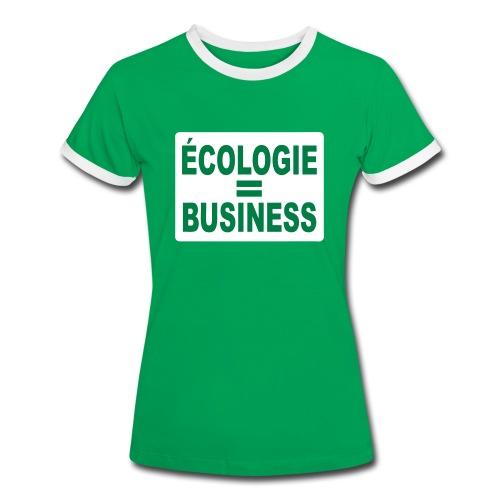 Ecologie - T-shirt contrasté Femme